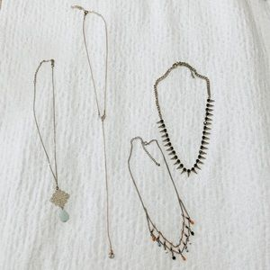 Urban Outfitters necklace lot of 4 chain beaded